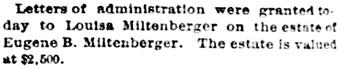 St. Louis Post-Dispatch (St. Louis, Missouri), July 15, 1887, page 6, column 6.