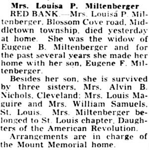 Asbury Park Press (Asbury Park, New Jersey), May 5, 1948, page 2, column 4.