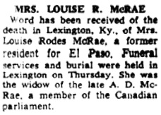 El Paso Times (El Paso, Texas), May 20, 1961, page 2, column 2.
