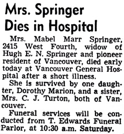Vancouver Sun, October 30, 1947, page 33.