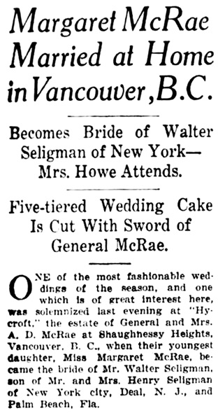 Star Tribune (Minneapolis, Minnesota), February 16, 1926, page 4, column 1 [first portion of article].