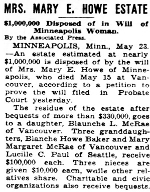 St. Louis Post-Dispatch (St. Louis, Missouri), May 23, 1934, page 9, column 6.