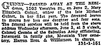 Vancouver Sun, June 3, 1925, page 14, column 1.