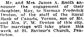 Vancouver Daily World, July 19, 1920, page 6, column 5.