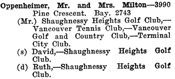 Greater Vancouver Social and Club Register, 1927, page 56.