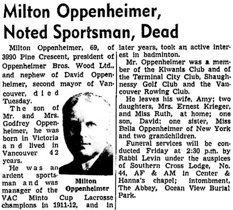 Vancouver Sun, November 25, 1952, page 2, columns 4-5; https://news.google.com/newspapers?id=EvZlAAAAIBAJ&sjid=QYkNAAAAIBAJ&pg=5717%2C1053718.