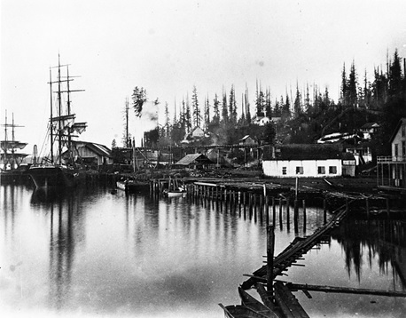 Moodyville Sawmill Co., 1882-1900; North Vancouver Museum and Archives, NVMA 6604; https://nvma.ca/moodyville-sawmill-co/.