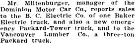 Vancouver Daily World, August 24, 1912, page 20, column 5.