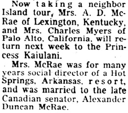 Honolulu Star-Bulletin, March 31, 1956, page 53, column 2.
