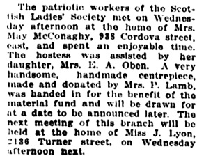 Vancouver Daily World, January 14, 1916, page 5, column 1.