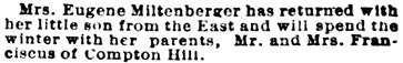 St. Louis Post-Dispatch (St. Louis, Missouri), October 17, 1888, page 6, column 7.