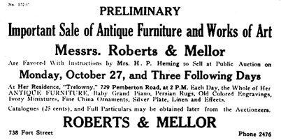 Victoria Daily Colonist, September 28, 1924, page 34, columns 5-7; https://archive.org/stream/dailycolonist0924uvic_22#page/n33/mode/1up.