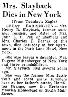 The Berkshire County Eagle (Pittsfield, Massachusetts), May 8, 1946, page 24, column 5.