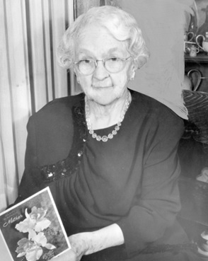 Mrs. John Oben on her birthday, May 3, 1950, Vancouver City Archives - CVA 371-1757; https://searcharchives.vancouver.ca/mrs-john-oben-on-her-birthday.