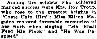 """The Messiah at Chalmers,"" Vancouver Daily World, December 16, 1915, page 8, column 6."