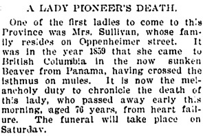 Vancouver Daily World, August 23, 1894, page 5, column 2.