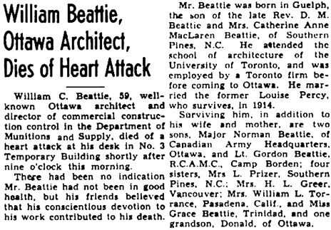 The Ottawa Journal (Ottawa, Ontario) June 22, 1945, page 8, column 3 [selected portions], includes photograph.