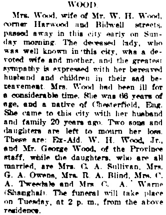 Vancouver Daily World, January 20, 1908, page 10, column 6.