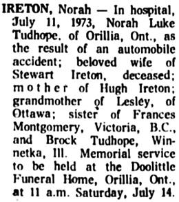The Ottawa Journal, July 13, 1973, page 35, column 4.