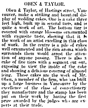 Vancouver Daily World, October 8, 1897, page 3, column 3.