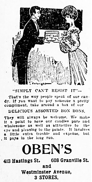 Vancouver Daily World, March 28, 1905, page 8, column 1.