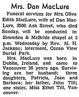 Vancouver Sun, October 10, 1939, page 20, column 3; https://news.google.com/newspapers?id=azJlAAAAIBAJ&sjid=NYkNAAAAIBAJ&pg=1988%2C1202699.
