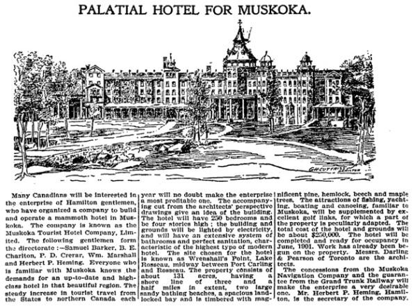 Toronto Globe, February 24, 1900, page 23, columns 5-7.