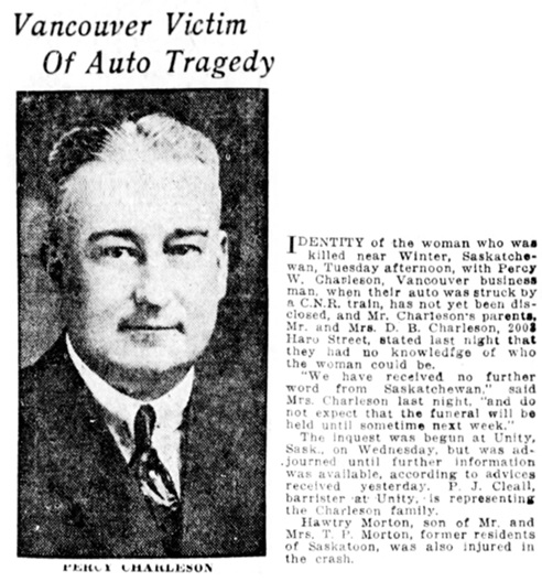 Vancouver Sun, September 29, 1922, page 3, column 3.