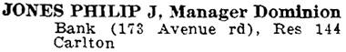 Toronto City Directory, 1917, page 1010, column 1; https://archive.org/stream/torontodirec191700midiuoft#page/n1026/mode/1up.