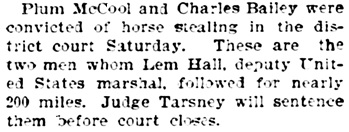 The Wichita Daily Eagle (Wichita, Kansas), November 16, 1897, page 1, column 3.