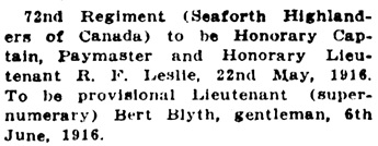 Victoria Daily Colonist, August 13, 1916, page 10, column 5; http://archive.org/stream/dailycolonist58y211uvic#page/n9/mode/1up.