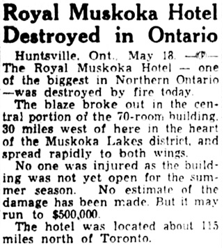 The Gazette (Montreal), May 19, 1952, page 11, column 2.