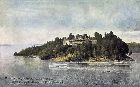 Royal Muskoka Hotel, Lake Rosseau, Muskoka Lakes. Reached by G.T.R. System; about 1910; Toronto Public Library; https://www.torontopubliclibrary.ca/detail.jsp?Entt=RDMDC-PCR-1528&R=DC-PCR-1528&searchPageType=vrl.