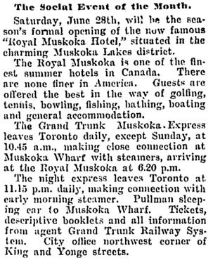Toronto Globe, June 27, 1902, page 6, column 5.