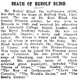 Abergavenny Chronicle (Abergavenny, Wales), February 11, 1916, page 3, column 2;  http://newspapers.library.wales/view/4121623/4121626/27.