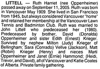 Vancouver Sun, October 15, 2005, page 44, column 5.