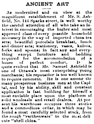 Ottawa Daily Citizen, September 24, 1889, page 2, column 2.