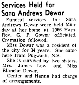 Vancouver Sun, July 25, 1945, page 8, column 6.