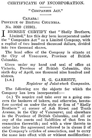 British Columbia Gazette, April 13, 1916, page 722; [first portion of certificate]; https://archive.org/stream/governmentgazett56nogove_a4a1#page/722/mode/1up.