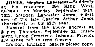 Toronto Globe and Mail, September 20, 1939, page 18, column 1.