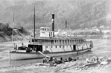 Sternwheel steamboat R.P. Rithet at Yale, BC on the Fraser River, 1882; British Columbia Archives, Item C-03819; http://search.bcarchives.gov.bc.ca/ss-r-p-rithet-at-yale-on-fraser-river-2.