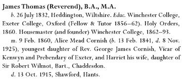Servants of Empire: An Imperial Memoir of a British Family, by F. R. H. Du Boulay; London, I.B.Tauris, 2011, page 245; https://books.google.ca/books?id=TlgBAwAAQBAJ&pg=PA245#v=onepage&q&f=false.