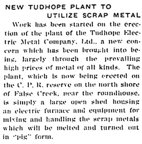 British Columbia Record, January 24, 1919, page 1, column 4 [portion of article]; https://open.library.ubc.ca/collections/bcnewspapers/xbcrecord/items/1.0171048#p0z0r0f: