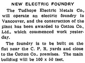 British Columbia Record, September 27, 1918, page 1, column 4; https://open.library.ubc.ca/collections/bcnewspapers/xbcrecord/items/1.0170648#p0z1r0f: