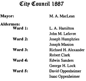 Vancouver's Elected Representatives, by Wayde D. Madden, 2003, page B-4, https://archive.org/stream/PAM200372/PAM-2003-72#page/n28/mode/1up.