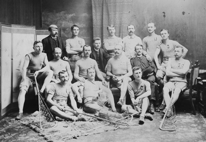 Vancouver Lacrosse Club Champions 1888 - Seasons – 1890; Vancouver City Archives, VLP 63; https://searcharchives.vancouver.ca/vancouver-lacrosse-club-champions-1888-seasons-1890. Back row: J.D. Hall, J. Bigham, S. Oppenheimer, .J. Quigley, W. Taylor, J.B. Simpson. Second row: W.D. Woods, A.E. Suckling, P. Wade, A. Godfrey, C.N. Davidson, D. Smith, H. McGregor. Front row: J. Smith, H.E. Rankin, W. Law.