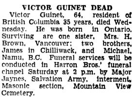 Vancouver Sun, June 12, 1936, page 22, column 8.