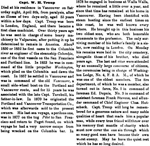 The Vancouver Independent (Vancouver, Washington), April 13, 1882, page 5, column 3; https://chroniclingamerica.loc.gov/lccn/sn87093109/1882-04-13/ed-1/seq-5/.
