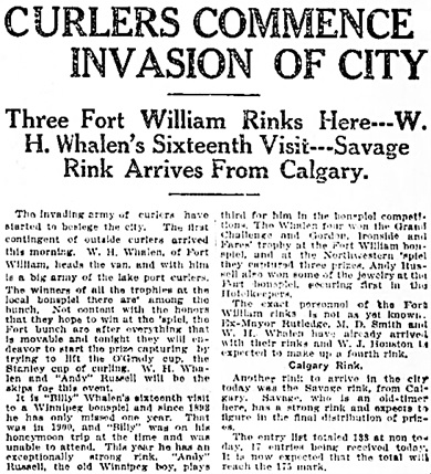The Winnipeg Tribune, February 8, 1909, page 1, columns 6-7.