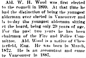 Vancouver Daily World, January 13, 1902, page 8, column 4.